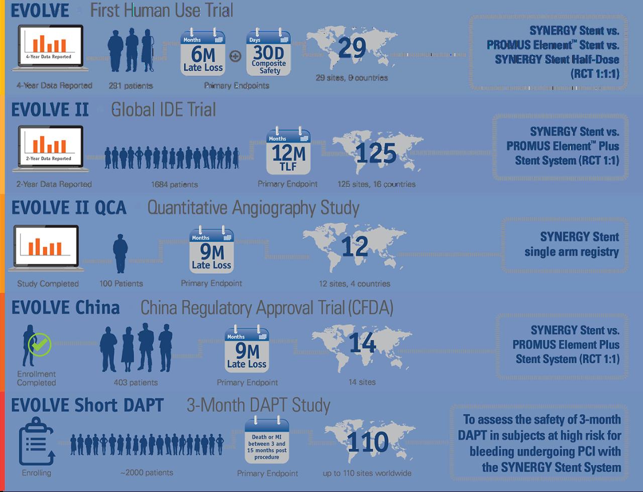 SYNERGY Stentstudien – Infografik