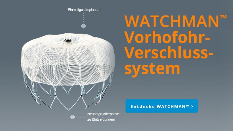 WATCHMAN™ Vorhofohr-Verschlusssystem