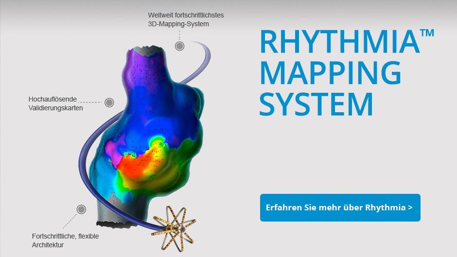 Rhythmia™ Mapping System – das modernste 3D-Mapping-System Fortschrittliche, flexible Architektur Hochauflösende Validierungskarten