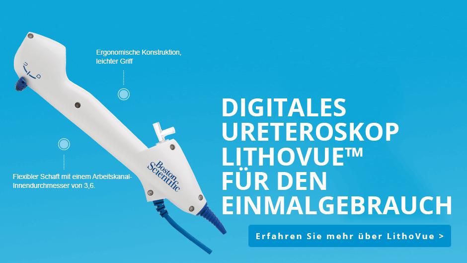 Digitales Ureteroskop LithoVue™ für den Einmalgebrauch