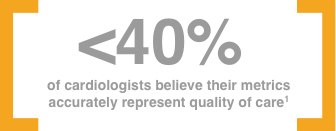 <40% of cardiologists believe their metrics accurately represent quality of care