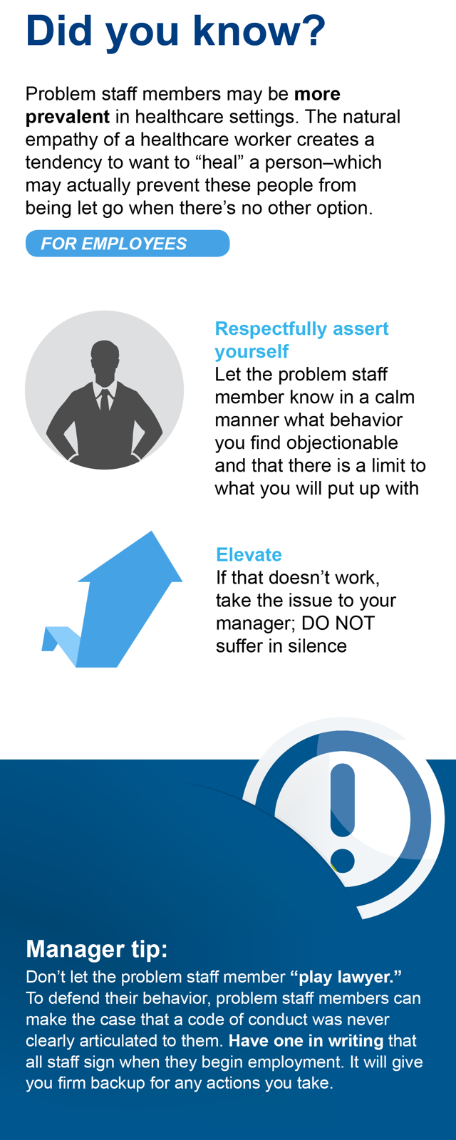 Anatomy of the Problem Staff Member Infographic