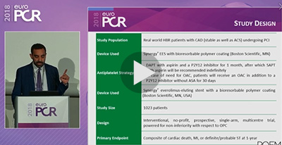 Part 4 - The POEM Registry: One-month DAPT in High Bleed Risk patients.
