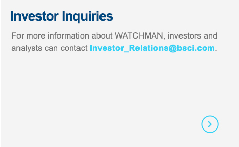 Contact us for more information about WATCHMAN.