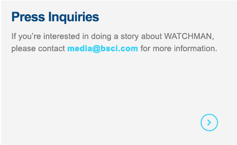 Contact us if you're interested in doing a story about WATCHMAN.