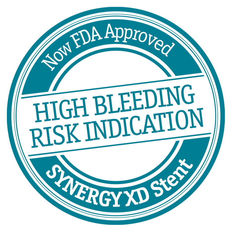 The first DES indicated for use in High Bleeding Risk patients*