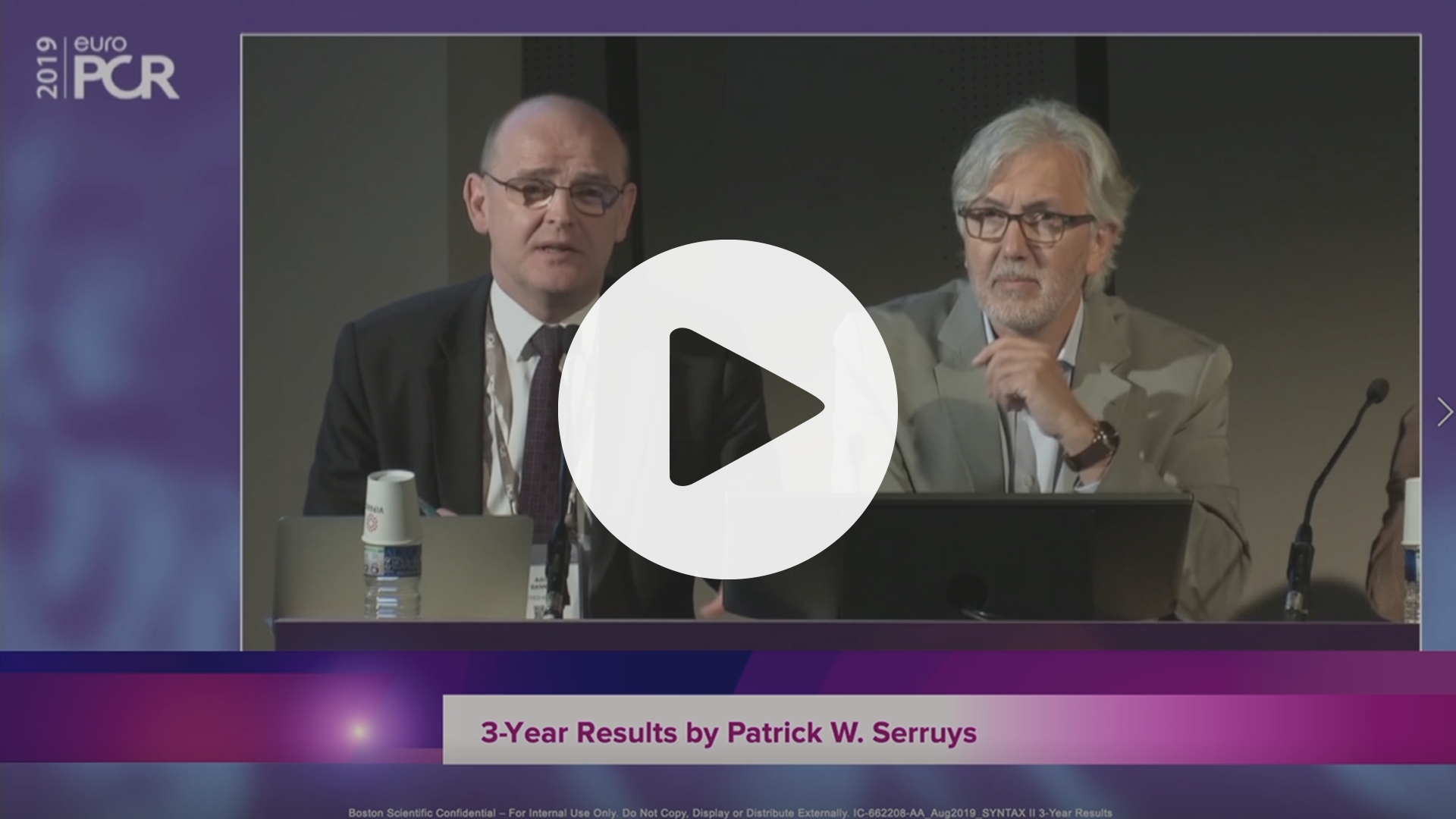 SYNTAX II 3-year Results by Patrick W Serruys, VIdeo
