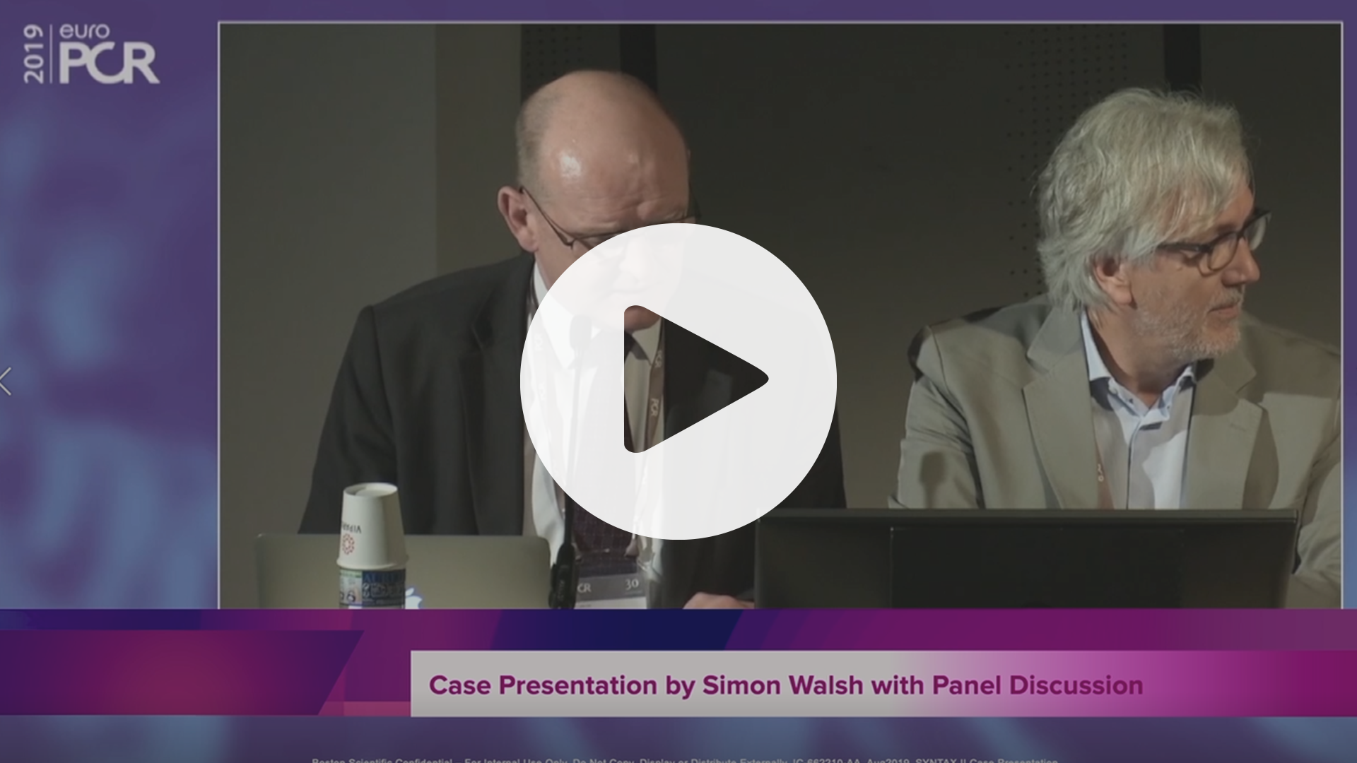 SYNTAX II Case Presentation By Simon Walsh, VIdeo