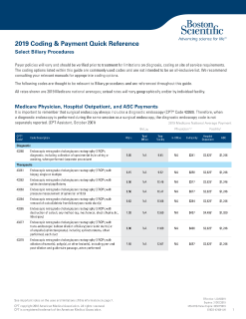 2019 Biliary Coding and Payment Quick Reference