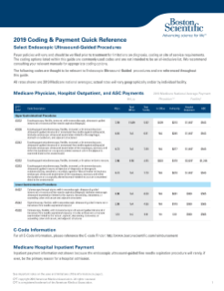 2019 EUS Coding and Payment Quick Reference