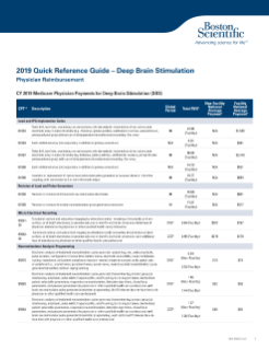 2019 Quick Reference Guide – Physician Reimbursement for Deep Brain Stimulation