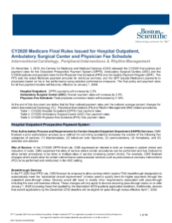 CY2020 Medicare Final Rules for Hospital Outpatient, Ambulatory Surgical Center and Physician Fee Schedule