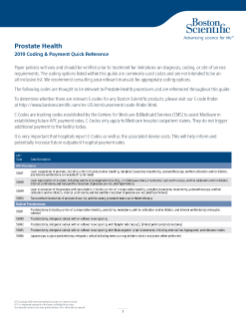 2019 Prostate Health Coding and Quick Reference Guide