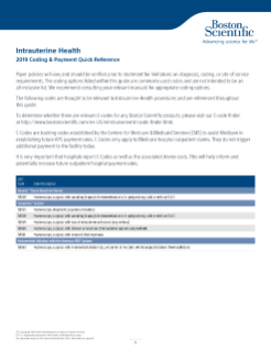 2019 Intrauterine Health Coding and Payment Guide