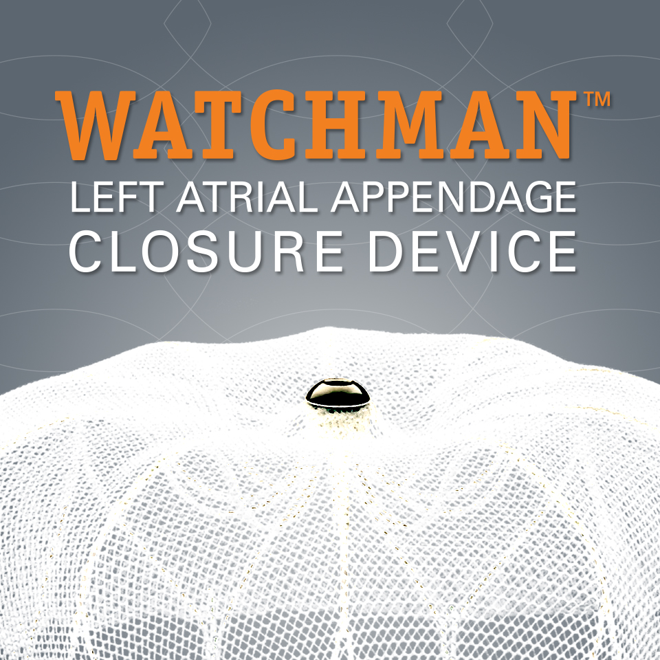 WATCHMAN left atrial appendage closure device (LAAC)