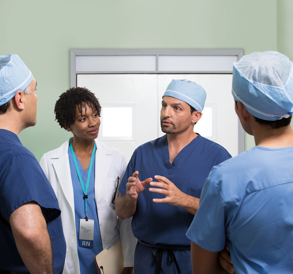 medical team discussing options