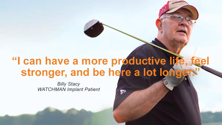 photo of Billy - patient holding a golf club