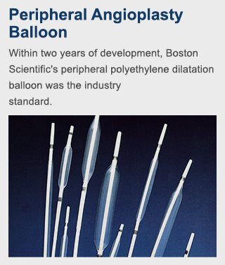 Within two years of development, Boston Scientific's peripheral polyethylene dilatation balloon was the industry standard.