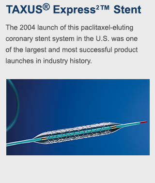 The 2004 launch of this paclitaxel-eluting coronary stent system in the U.S. was one of the largest and most successful product launches in industry history.