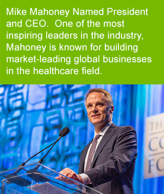 One of the most inspiring leaders in the industry, Mahoney is known for building market-leading global businesses in the healthcare field
