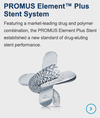 Featuring a market-leading drug and polymer combination, the PROMUS Element Stent established a new standard for drug-eluting stent performance.