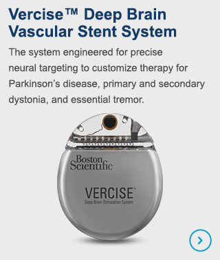 Vercise Deep Brain Stimulation System - the system engineered for previse neural targeting to customize therapy for Parkinson's disease, primary and secondary dystonia, and essential tremor.