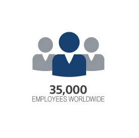 icon with 32,000 employees