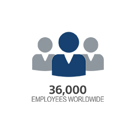icon with 36,000 employees