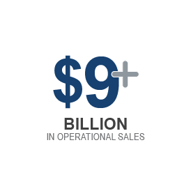 icon with $9+ Billion in operational sales