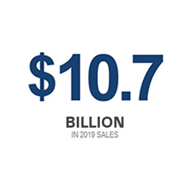 icon with $10.7 Billion in operational sales