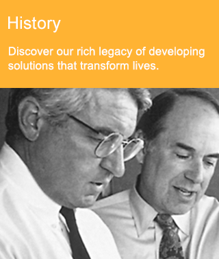 Image with Link to History page. Discover our rich legacy of developing solutions that transform lives.