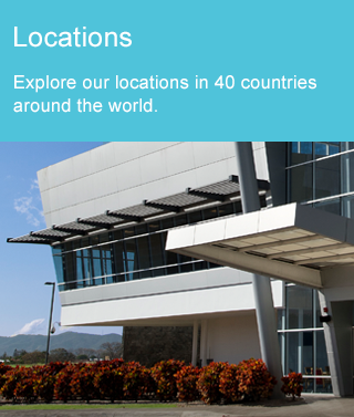 Image with link to locations page. Explore our locations in 40 countries around the world.