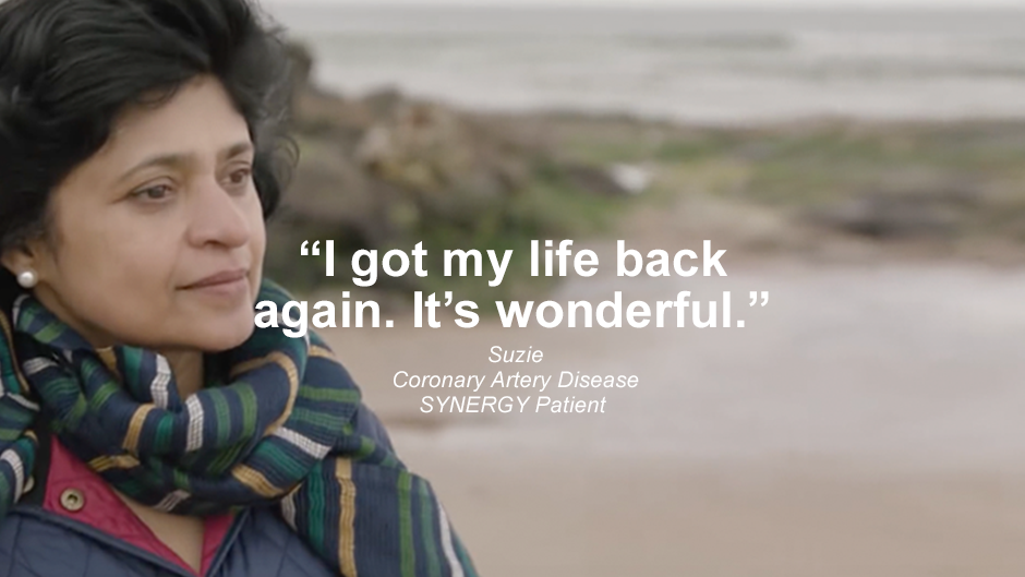"Patient quote ""I got my life back again. It's wonderful."" Watch Suzie's Story."