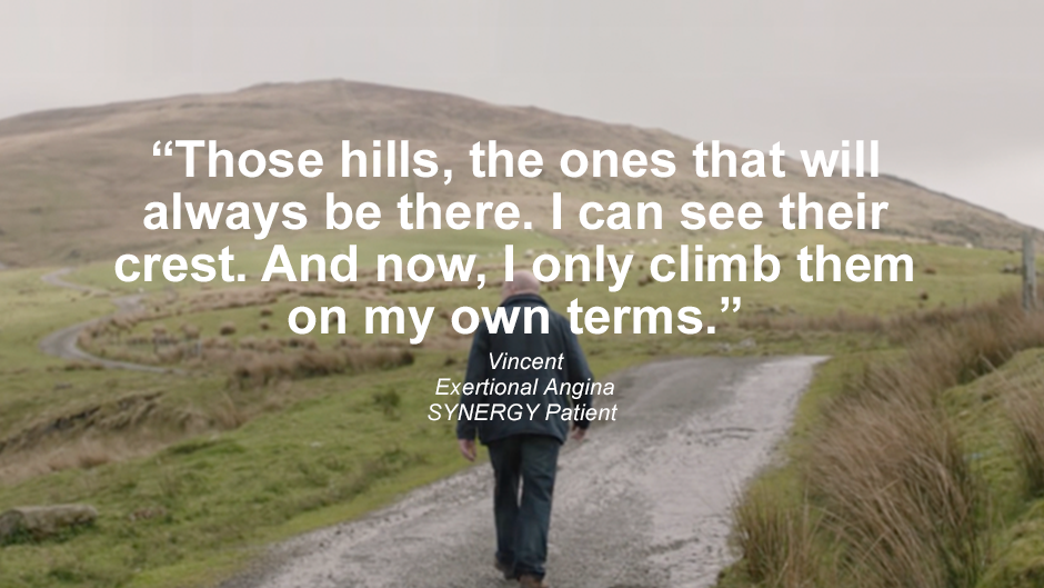 "Patient quote ""Those hills, the ones that will always be there. I can see their crest. And now. I only climb them on my own terms."" Watch Vincent's story."