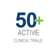 More than 50 active clinical trials