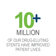 10+ Million of our drug-eluting stents have improved lives