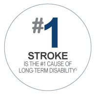 Stroke is the number 1 cause of long-term disability.