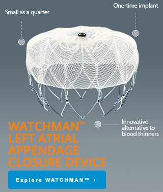 WATCHMAN™ Left Atrial Appendage Closure Device, Link to explore WATCHMAN