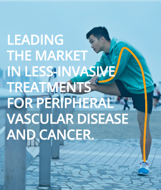 Leading the market in less-invasive treatments for peripheral vascular disease and cancer.