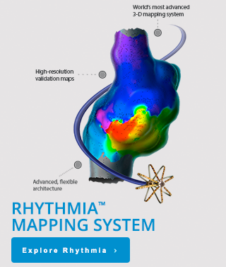 Rhythmia™ Mapping System - World's most advanced 3-D mapping system Advanced, flexible architecture High-resolution validation maps