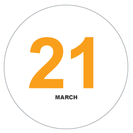 number icon March 21