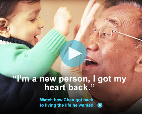 """I'm a new person, I got my heart back."" - Hear Chan's story."