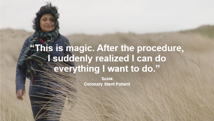 "Patient quote: ""This is magic. After the procedure, I suddenly realized I can do everything I want to do."" Watch Susie's story."