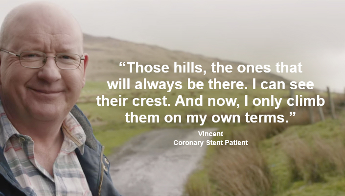 "Patient quote - ""Those hills, the ones that will always be there. I can see their crest. And now, I only climb them on my own terms."" Watch Vincent's Story"