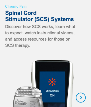 Spinal Cord Stimulator (SCS) Systems - Discover how SCS works, learn what to expect, watch instructional videos, and access resources for those on SCS therapy.