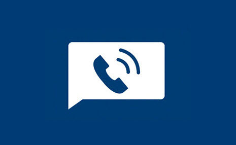 Icon of telephone for patient support feature
