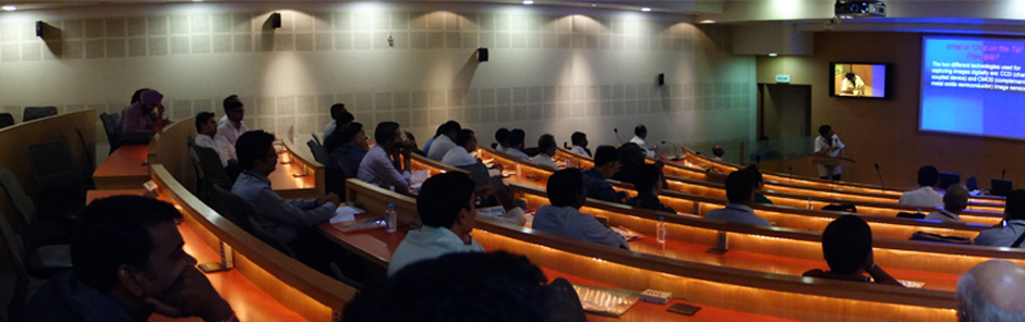 Background image of lecture hall
