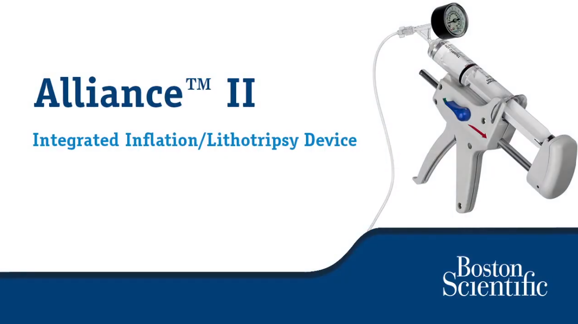 Alliance™ II Integrated Inflation & Lithotripsy Device Set-up and Use Video Tutorial
