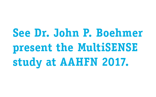 See Dr. John P. Boehmer present the MultiSENSE study at AAHFN 2017.