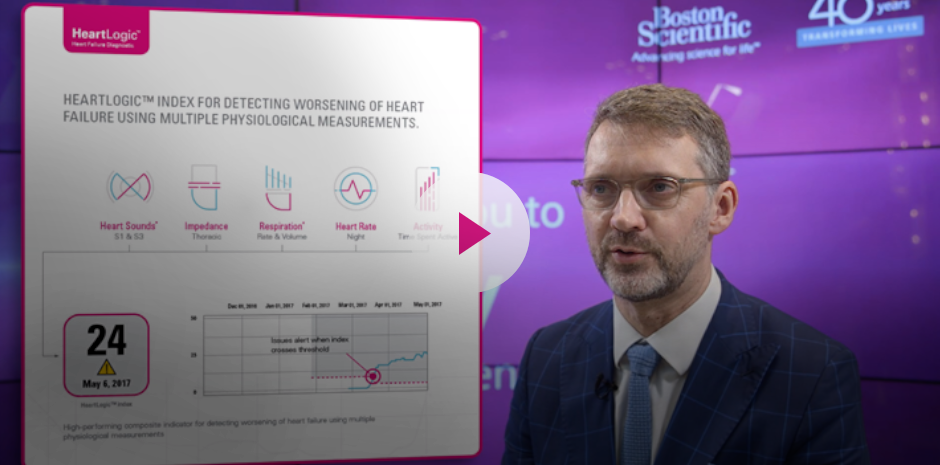When the HeartLogic™ index is crossing the threshold, you can analyse the data and see what is happening with your patient